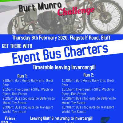 Burt Munro Challenge – NZ Hill Climb Champs – Transport to Bluff