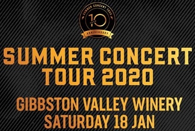 Gibbston Valley Winery Summer Concert 2020 – Bus Trip