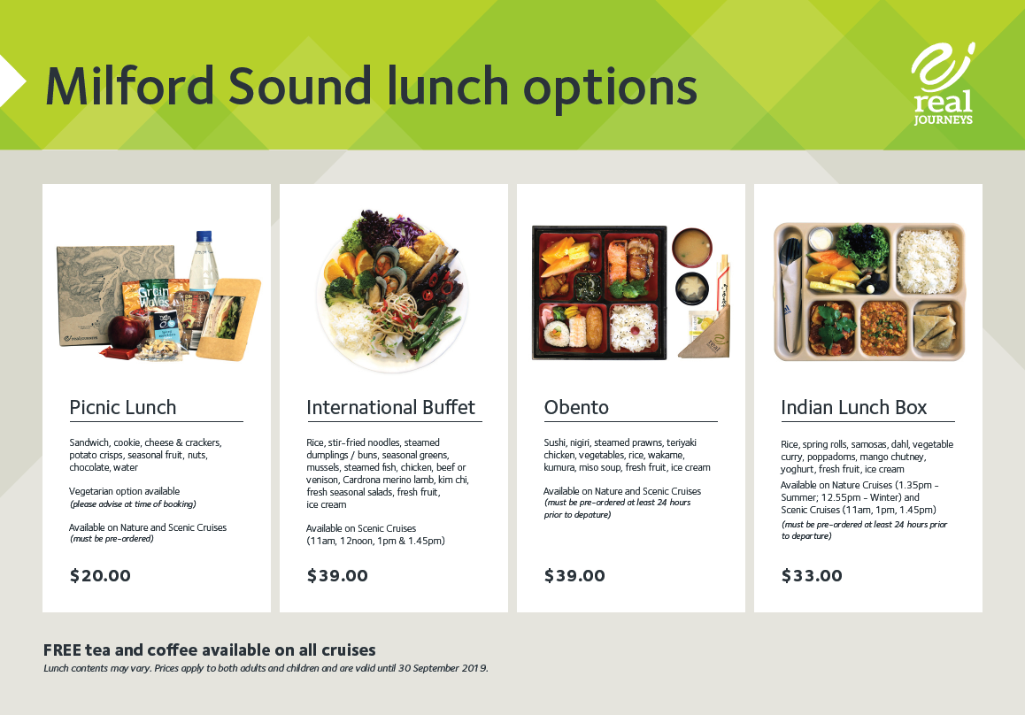 Magical Milford Sound Lunch Options